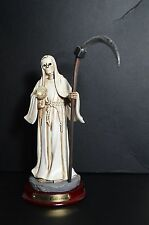"La Santa Muerte 8 1/2"" Grim Reaper Holy Death Color White-Skull, Skeleton"