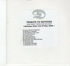 (DJ555) Tribute to Nothing, How Many Times Did We Live? - 2006 DJ CD