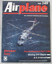Airplane Issue 149 Hawker Fury Cutaway drawing & poster, Boeing 314 Clipper