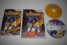 +++ SONIC and the SECRET RINGS TARGET EXCLUSIVE Nintendo Wii Game COMPLETE +++
