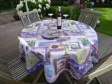 Tischdecke Provence 160 cm rund flieder Lavendelmotive, Frankreich, pflegeleicht