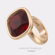 Authentic Endless Silver Rose Gold Plated Big Garnet Cube Rose Bead 61302-2