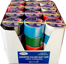 "48 rolls - Duct Tape ASSORTED 6 COLORS - 1.89"" (2"") x 10 yards"