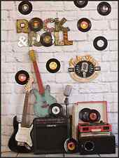 5x7FT Rock Roll Music Band Instruments Photo Studio Background Backdrop Vinyl