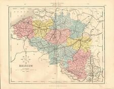 1868 ANTIQUE MAP-ARCHER- BELGIUM