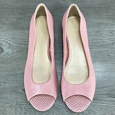 Cole Haan Pretty in Pink Peep Toe Flats Women's Size 9.5