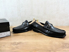 New Gucci Men's Horsebit Loafers Black Leather box UK 8.5 US 9.5 EU 42.5