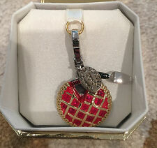 New JUICY COUTURE Cherry Pie Serving Knife Limited Edition 2013 Silver Red Charm