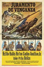 Major Dundee 1965 Peckinpah Spanish one-sheet movie poster