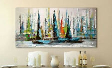 OIL PAINTING MODERN ABSTRACT WALL DECOR ART CANVAS 24x48inch (No stretch)