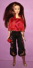 Barbie Fashion Fever Drew Lara Head Mold Red Asian Mattel Doll for OOAK or Play