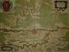 Historische Landkarte Frankfurt am Main Offenbach Bornheim 1658 Janssonius