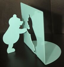 One Winnie the Pooh Turquoise Metal Cutout Bookend by Moller Design