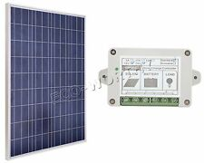 100 WATT 12 VOLT SOLAR PANEL 100W 12V Polycrystalline Solar Panel 15A regulator