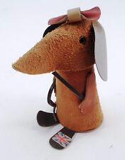 1960s British Invasion England Leather Suede Girl Mouse w/ Whip Crop Union Jack