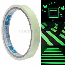 12mm Premium Luminous Adhesive Tape Strip Glow In The Dark Fluorescent Verde