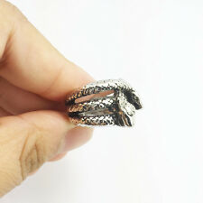 fashion jewelry 316L stainless steel Vintage snake rings size 7