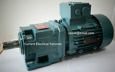Watt 3-Phase 0.75kW Electric Motor Gearbox Straight Gear Drive 365RPM