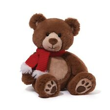 GUND BEAR -   HAPPY FACED TWINKIE -  KNIT RED SCARF