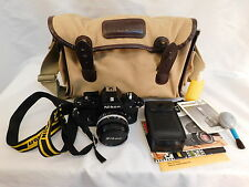 NIKON EM CAMERA 1.8 50MM LENS E VINTAGE CASE 35MM SLR OWNERS MANUAL SS-10 FLASH