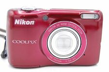 Nikon COOLPIX L26 16.1 MP 3'' SCREEN 5X Digital Camera RED (NO BATTERY)
