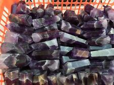 12-15pcs NATURAL Banded Chevron Dream amethyst QUARTZ CRYSTAL WAND POINT HEALING
