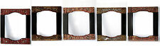 Beautiful & Rare 5 Antique Frame Wood Carve with Stained glass Cheap Don't Miss!
