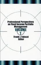 Professional Perspectives on Fixed Income Portfolio Management, Volume-ExLibrary