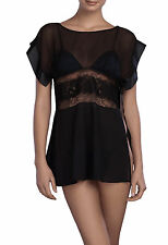La Perla Segreto Di Geisha Collection M Babydoll Set Black Silk Chiffon New