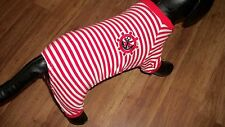 "dog pajamas,red striped,""sailor pj's"",XL for sm/med dogs(read details for size)"