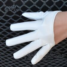 2016 NEW Ladies Faux Leather Five Finger Half Palm Party Casual Gloves Mittens