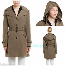 Calvin Klein Water Resistant Truffle Trench Coat Jacket Raincoat NWT $239 S 4-6