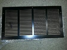 "RV Trailer Camper Return Air Grill Exhaust Vent Cover 10"" X 20"" Black NEW"