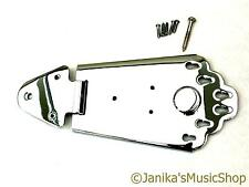 Chrome semi-acoustic guitar tailpiece jazz tail piece 6 string anchor hinged new