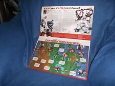 03/04 The Gazette Home Grown Canadian Hockey Heroes Pin Lot of 10 w/Display