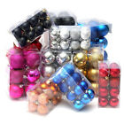 24PCS Glitter Christmas Tree Bauble Decor Ball Hanging Home Party Xmas Ornament
