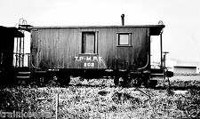 Texas Pacific - Missouri Pacific Terminal Caboose #202 Black & White Photo