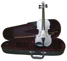 Merano VN100-SV Silver Handmade Violin w/Case & Bow - ANY SIZE 4/4 to 1/16!