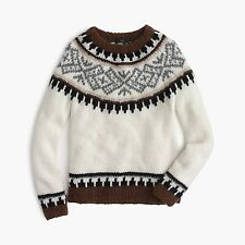 NWT $298 J.Crew COLLECTION fair isle SWEATER L hand knit ~ NO MARKS IN LABEL