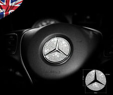 Mercedes Benz Crystal Stone Steering Wheel Insert Badge Emblem Sticker Bling