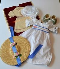 FELICITY SUMMER OUTFIT! PLEASANT COMPANY TAGS! DRESS~HAT~CAP~SLIPPERS~SASH~BAG!