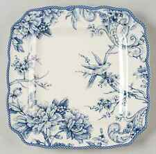 222 Fifth ADELAIDE-BLUE & WHITE Square Dinner Plate 9068088