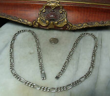 """Vintage Sterling Silver Heavy Mexican 24.5"""" Necklace for Woman or Man"""