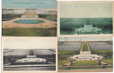 Lot 4 cartes postales anciennes GUERRE 14-18 WW1 ROMAGNE MONTFAUC AMERICAN USA 1