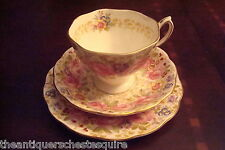 "Royal Albert England Mid Century TRIO cup,saucer and cake plate ""Serena""[*59]"