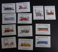 Bhutan 1990 Steam Railway locos MS837 12 sheets trains MNH UM unmounted mint