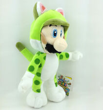 Super Mario Bros 3D World Cat Luigi Green Suit Soft Plush Toy Stuffed Animal 9""