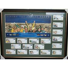 LIVING THE ATHENS DREAM SIGNED AND FRAMED SPORTSPRINT AUSTRALIANS ATHENS 2004