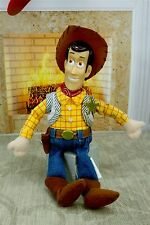 "Disney Toy Story Woody 10.5"" Plush Stuffed Bean Bag Doll Vinyl Head Cowboy"