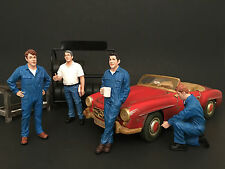 MECHANICS 4PC FIGURE SET 1:24 BY AMERICAN DIORAMA 77493,77494,77495,77496